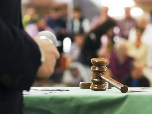 auctioneer with gavel