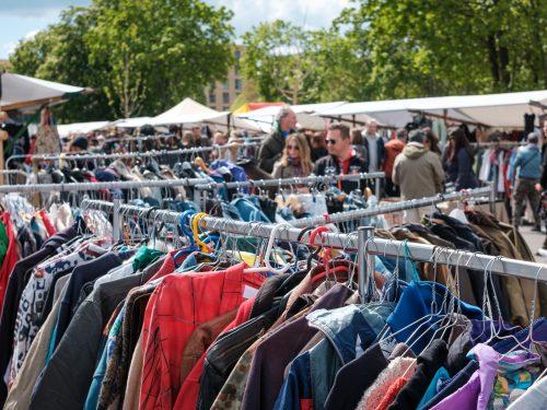 vintage clothing for sale at flea market